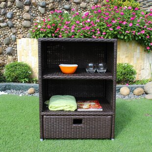 Sunjoy 43 Gallon Wicker Cabinet