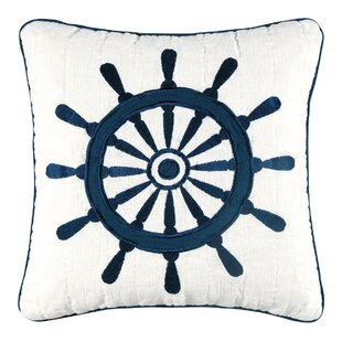 Peregrine Ship'S Wheel Quilt 100% Cotton Throw Pillow
