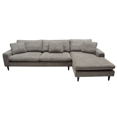 Wade Right Hand Facing Sectional Diamond Sofa