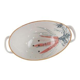 Watercolor Carrot Design Porcelain Colander