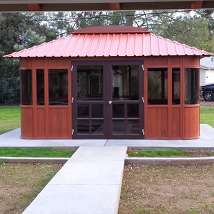 Aspen Ultrawood 15.5 Ft. W X 11.5 Ft. D Solid Wood Patio Gazebo By Westview Manufacturing