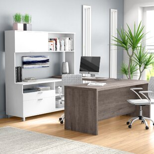 Heyworth 4 Piece U-Shape Desk Office Suite