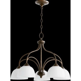 Hewlett 5-Light Shaded Chandelier in Oi LED Shaded Chandelier by Three Posts