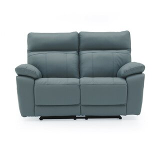 Paineville Leather 2 Seater Reclining Sofa By 17 Stories