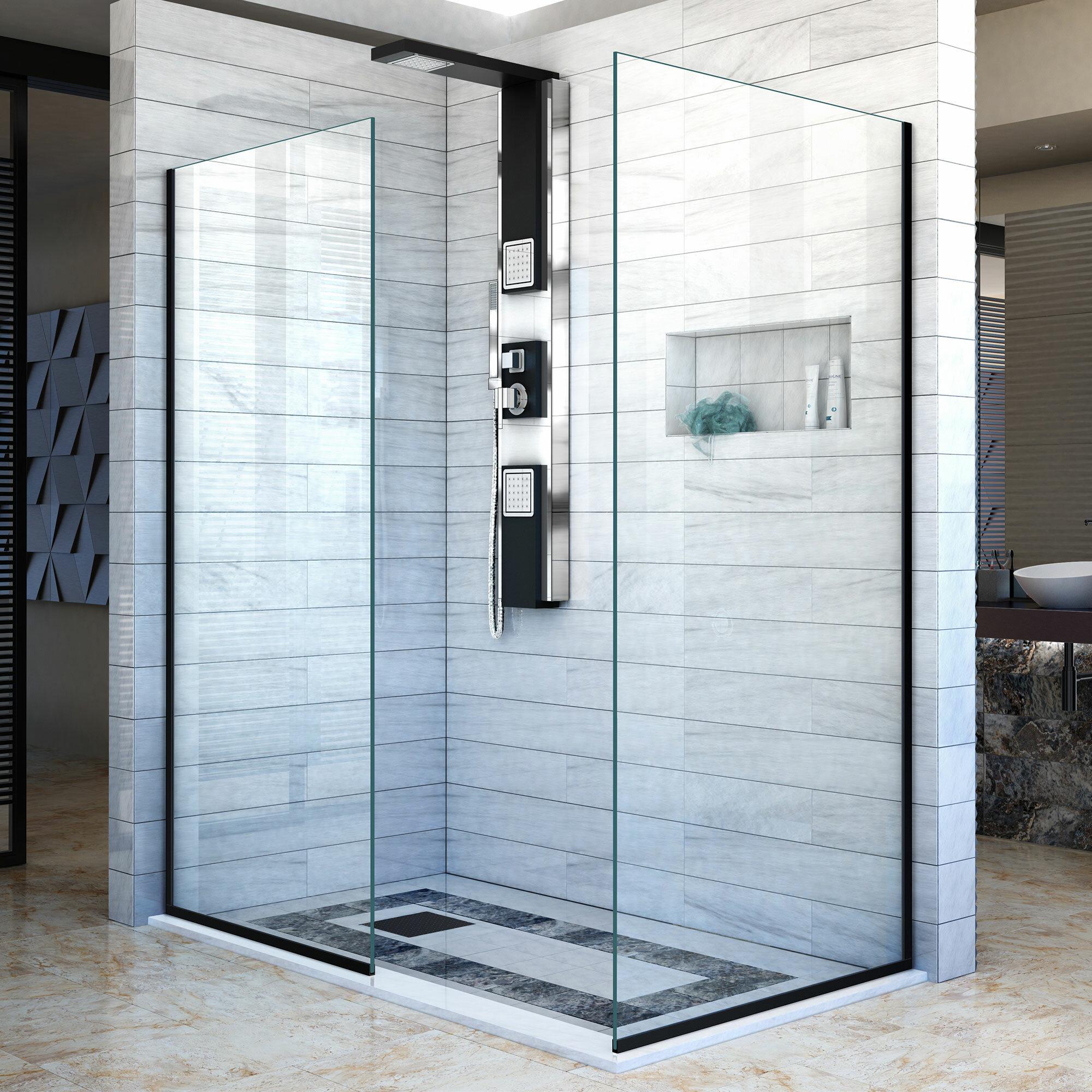 Linea 30 X 72 Semi Frameless Shower Door With Clearmax Technology
