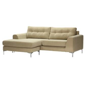 Mercer41 Thalia 108 Wide Faux Leather Left Hand Facing Modular Large Sectional Wayfair