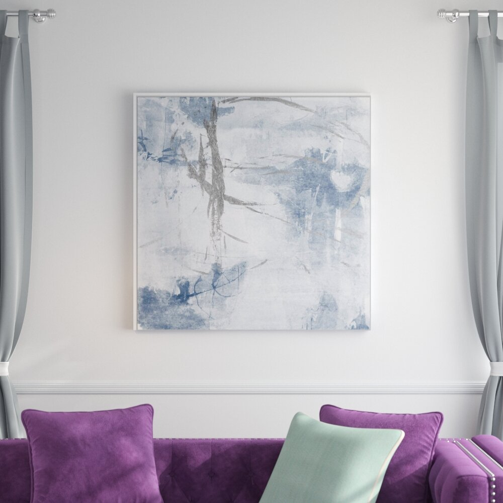 Evolving Silver Framed Graphic Art Print On Canvas
