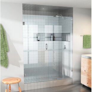 47.5 x 78 Hinged Frameless Shower Door By Glass Warehouse