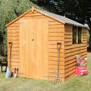 6 x 8 wooden overlap apex storage shed - Garden Sheds 6 X 8