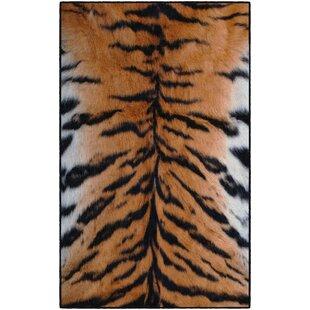 Affordable Latham Stripes Print Orange/Black Area Rug ByWorld Menagerie