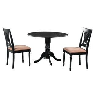 Sickles 3 Piece Drop Leaf Solid Wood Dining Set