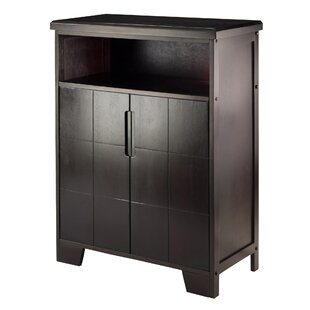 Wrought Studio Nyack 12 Bottle Floor Wine Cabinet