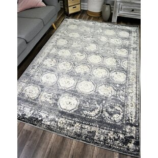 Looking for Donita Transitional Slate/White Area Rug By Bungalow Rose