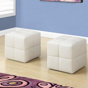 Magnificent Juvenvile Cube Ottoman Set Of 2 Machost Co Dining Chair Design Ideas Machostcouk