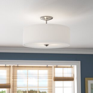 Hopedale 3-Light Semi Flush Mount by Latitude Run