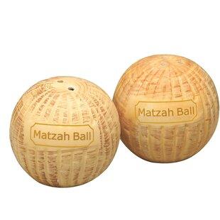 Ultimate Novelty Matzah Ball Salt and Pepper Shaker (Set of 2)
