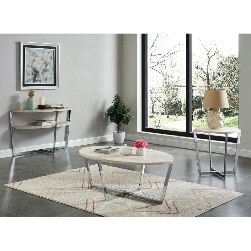 Orren Ellis Aidyn 3 Piece Coffee Table Set Wayfair