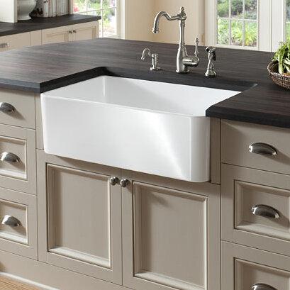 Derryberry 24 L X 19 W Farmhouse Apron Kitchen Sink Reviews Birch Lane