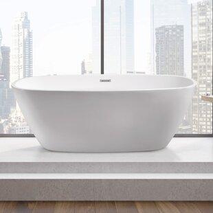 Top Reviews 59 x 28.3 Freestanding Soaking Bathtub ByWildon Home ®
