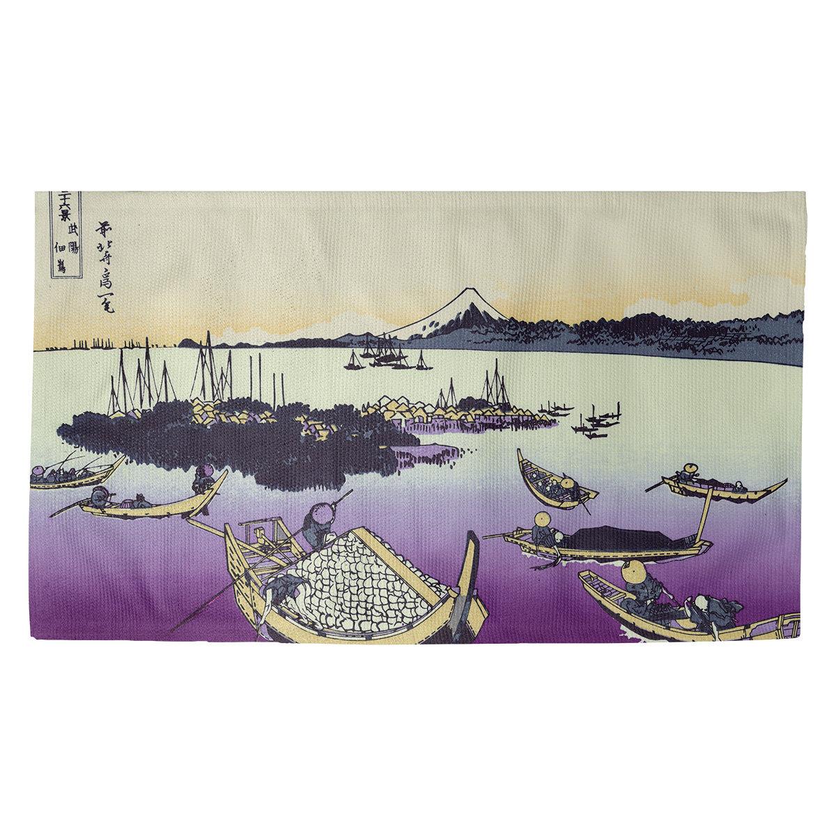 World Menagerie Hague Tsukuda Island In Musashi Province Purple Area Rug Wayfair
