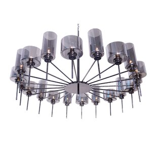 Alexandria 20-Light Wagon Wheel Chandelier by Nuevo