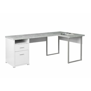 Darcio 2 Drawer L-Shape Corner Desk by Latitude Run Purchase