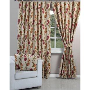 Vintage Tulip Blackout Curtains (Set Of 2)