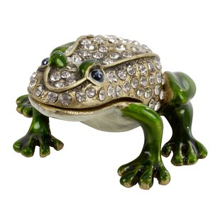 Inexpensive Frog Figurine Jewelry Box ByAstoria Grand