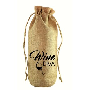Wine Diva Jute Wine Bottle Sack