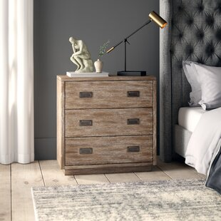 Greyleigh Woodcreek Modern Retro Style 3 Drawer Accent Chest