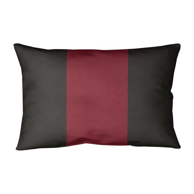 East Urban Home Arizona Hockey Linen Striped Lumbar Pillow Wayfair