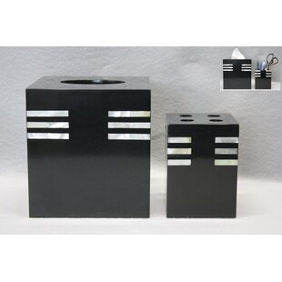 Latitude Run Kondo 2 Piece Bathroom Accessory Set