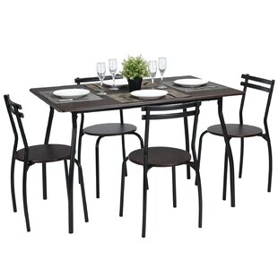 Tarleton 5 Piece Dining Set by Ebern Designs