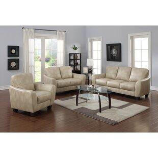 Krystal Leather Configurable Living Room Set by Latitude Run