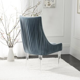 Lovie Acrylic Upholstered Dining Chair by Everly Quinn