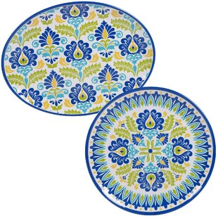 Hoehn 2 Piece Platter Set by Alcott Hill Best Choices
