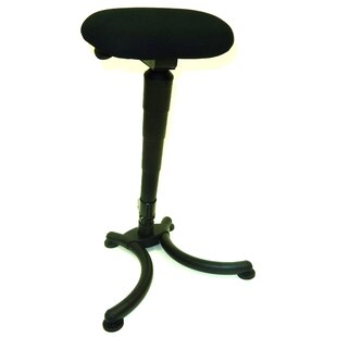 Sit-Stand Folding Height Adjustable Lab Stool by Symple Stuff