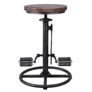 Bridgeman Adjustable Height Swivel Bar Stool by Williston Forge