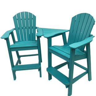 Buyers Choice Phat Tommy Balcony Plastic Adirondack Chair Set