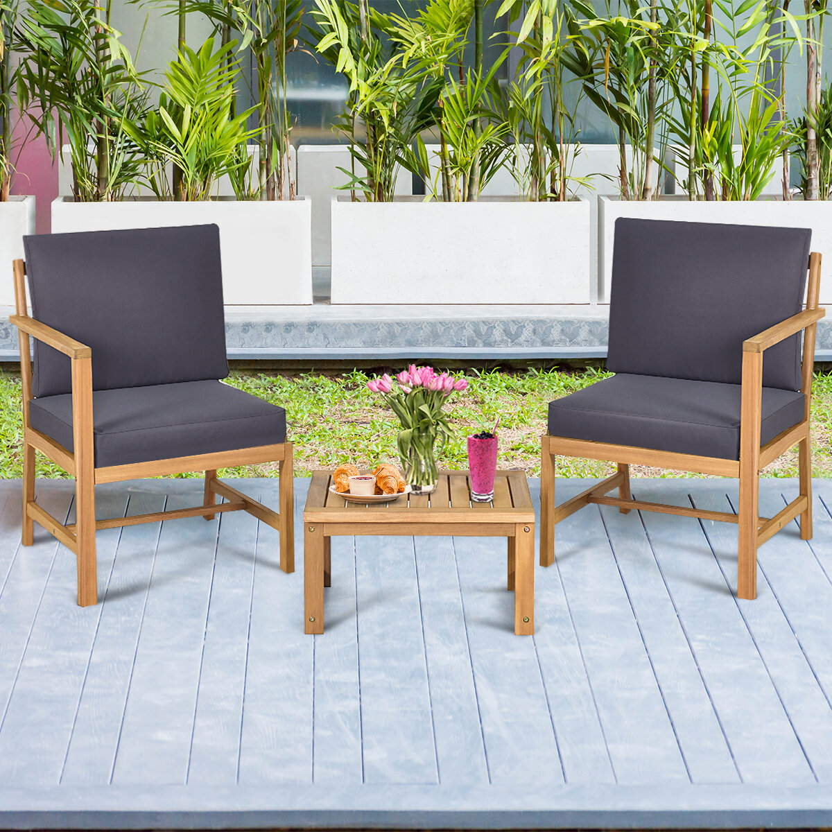 Wood Small Patio Bistro Sets You Ll Love In 2021 Wayfair