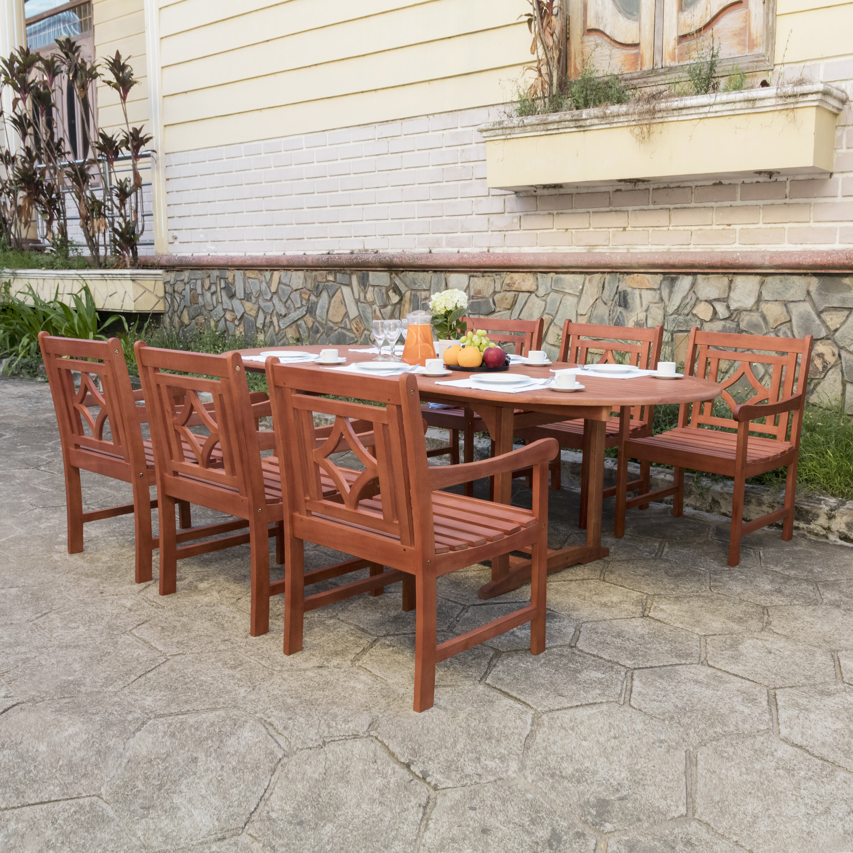 Beachcrest Home Amabel 7 Piece Patio Dining Set Reviews Wayfair