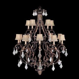 Fine Art Lamps Stile Bellagio 15-Light Shaded Chandelier