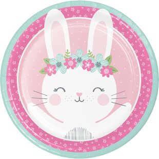 Mckee Bunny Party Paper Dessert Plate (Set of 24)