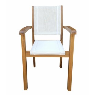 Mohammad Stacking Teak Patio Dining Chair