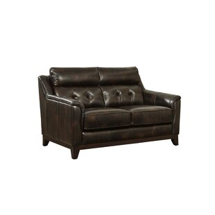 Darby Home Co Issleib Leather Loveseat