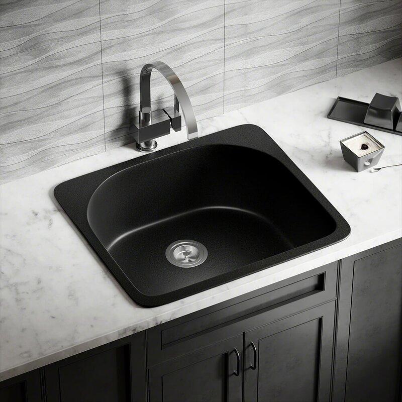 Granite Composite 25 L X 22 W Drop In Kitchen Sink