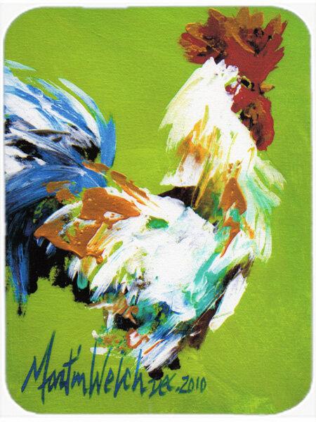 August Grove Jaiden Boss Rooster Glass Cutting Board