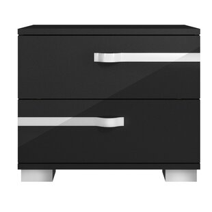 Reviews Whittier Contemporary 2 Drawer Nightstand by Orren Ellis