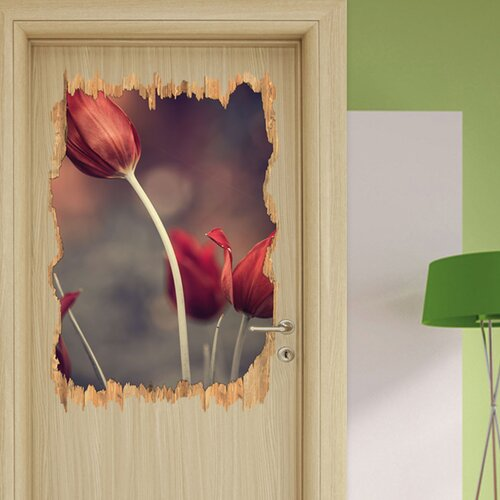 Fine Tulip in Evening Light Wall Sticker East Urban Home