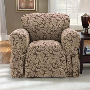 Scroll Classic Box Cushion Armchair Slipcover